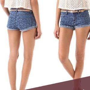 Rebecca Taylor leopard cutoffs shorts, size 6, new